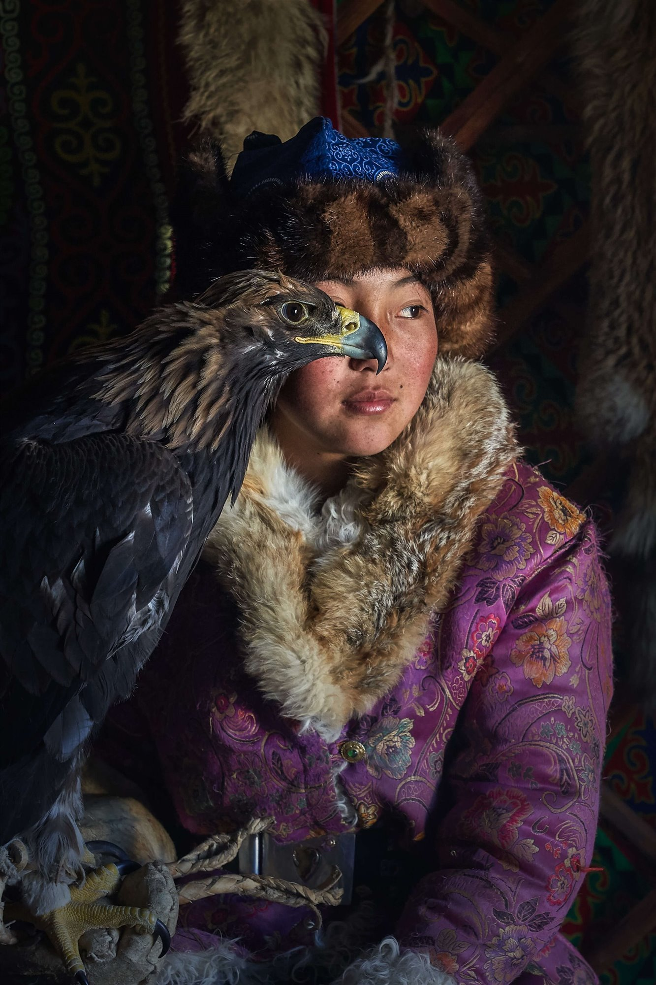 Young Eagle Hunter Lady