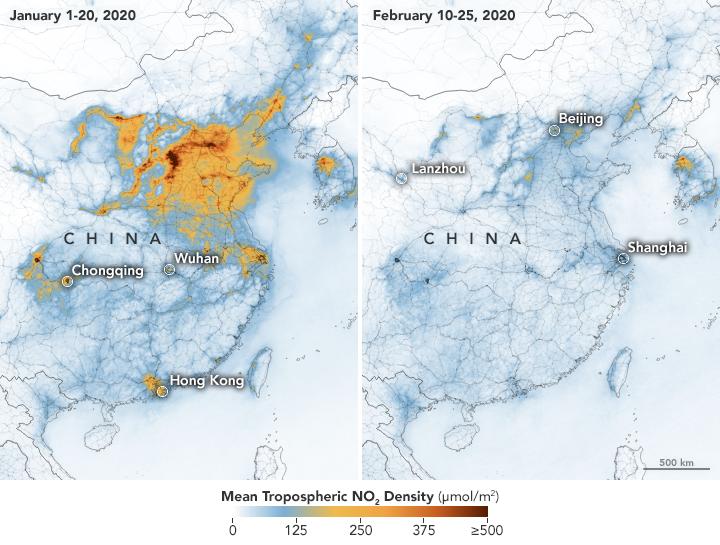 Mejora de al calidad del aire en China