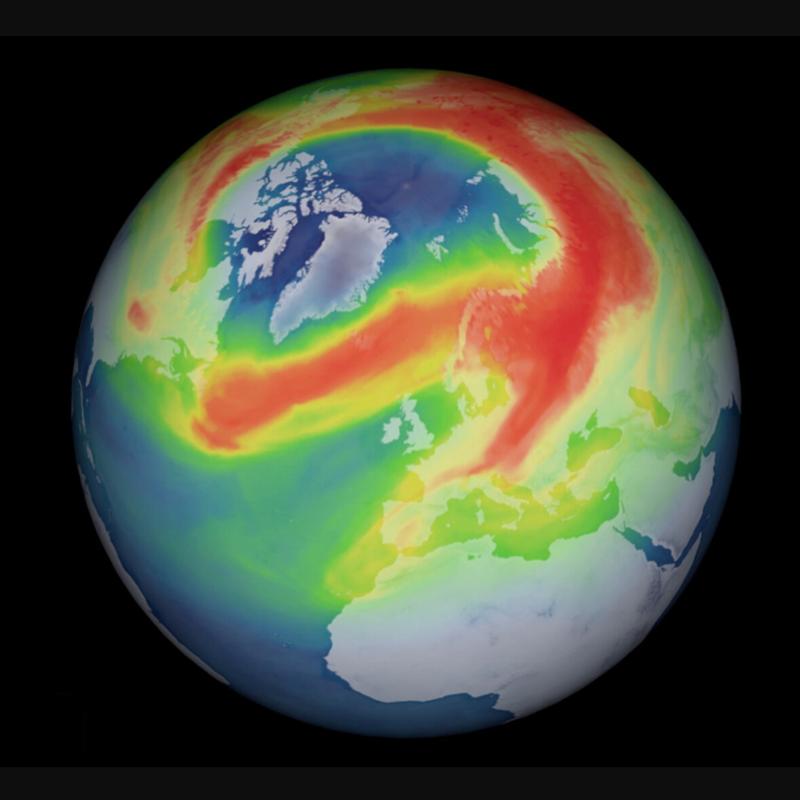 Detectado un agujero inusual en la capa de ozono