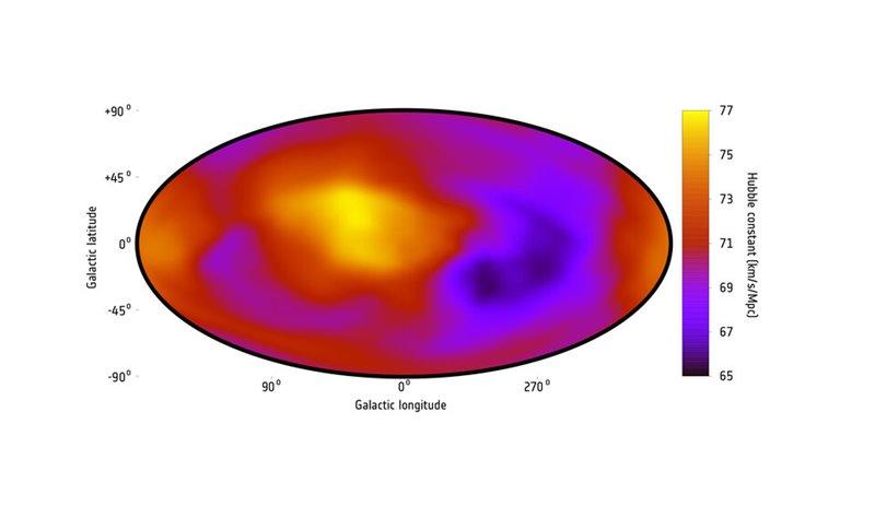 Mapa de la expansion del Universo