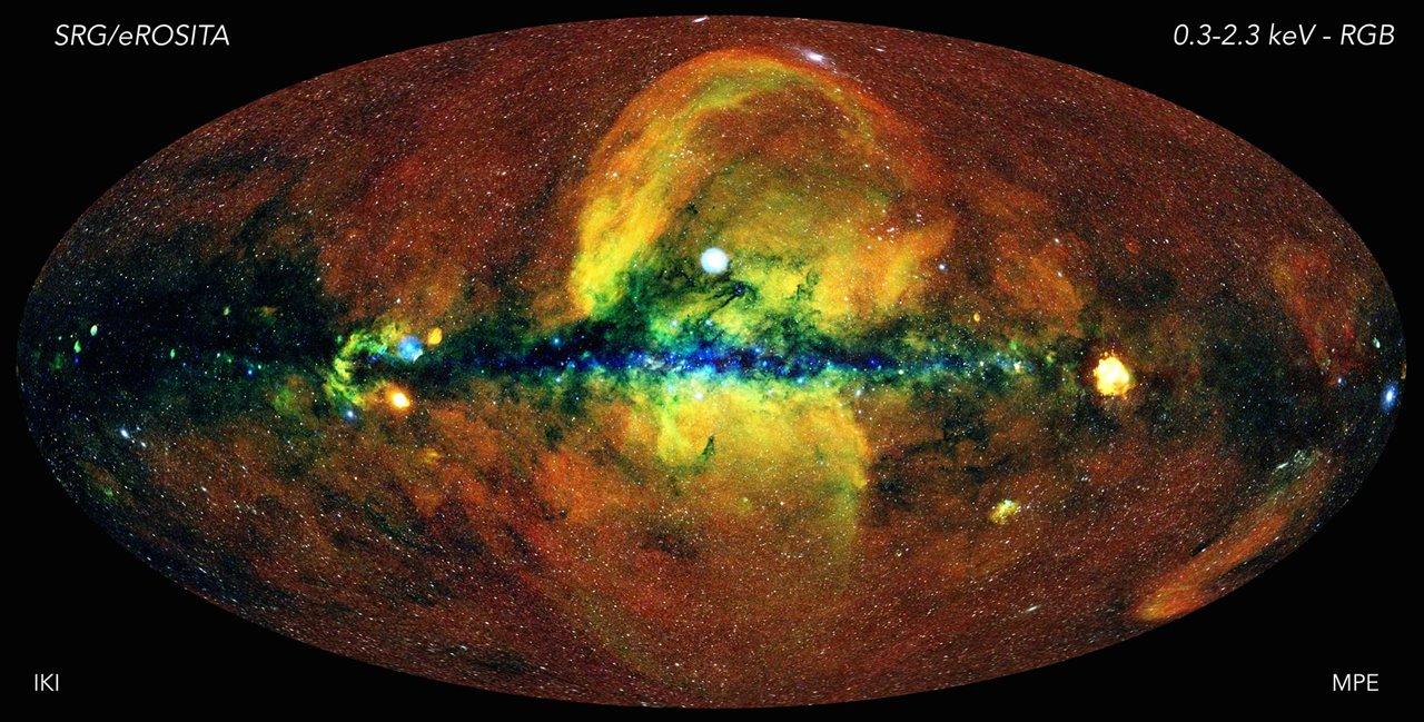 El Universo en rayos X captado por eROSITA