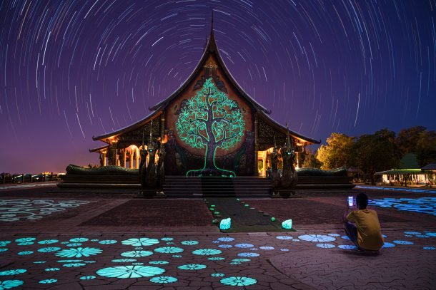 Wat Phu Prao Temple Star Trails