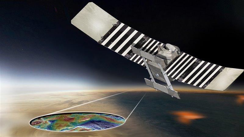 Representación artística de la sonda VERITAS