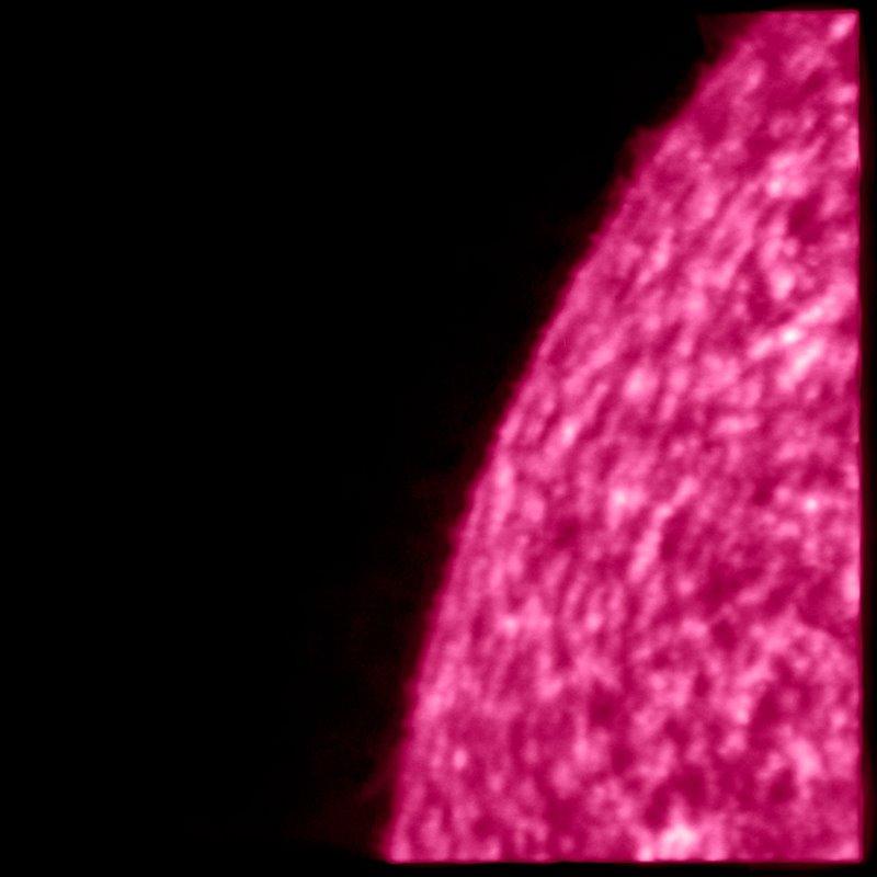 Imagen en alta resolución del viento solar