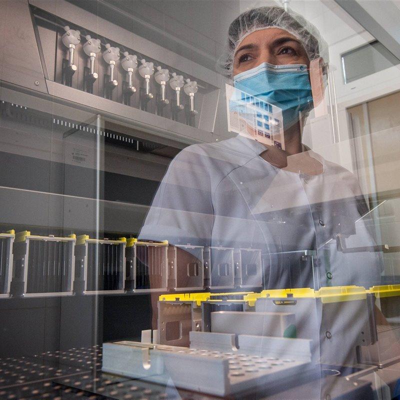 Laboratorio de genética molecular en Rusia
