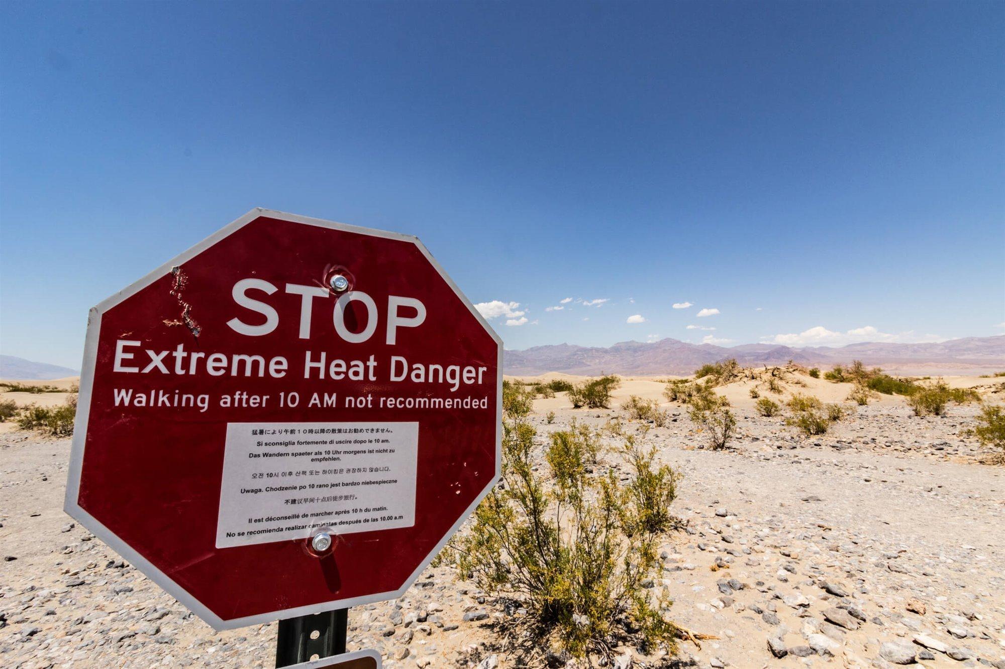 Olas de calor más intensas: récord en el Valle de la Muerte 1/2