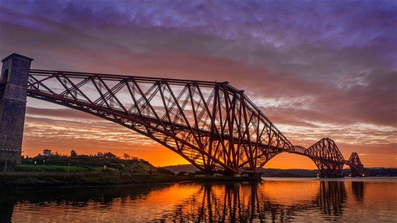 Puente en celosía de Forth Bridge, Escocia