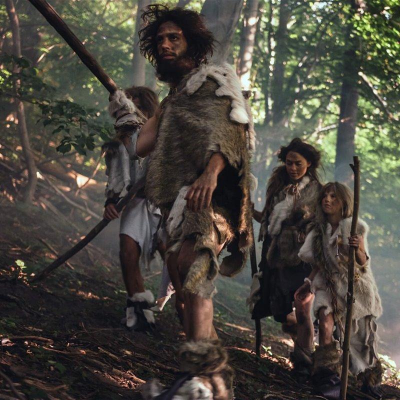 Tribu neandertal de cazadores recolectores