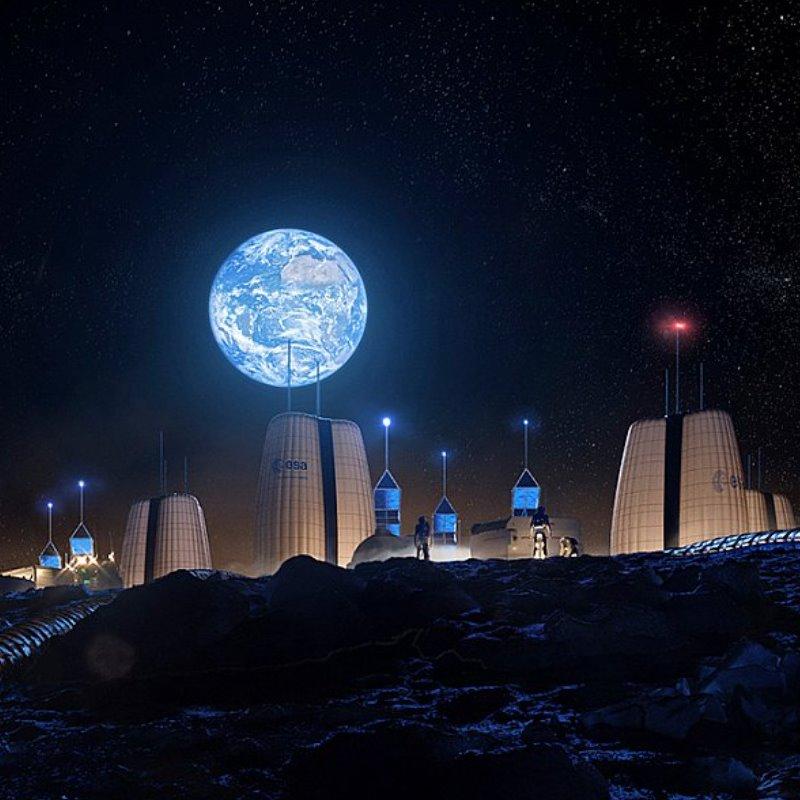 La aldea lunar, el futuro de la humanidad está en la Luna