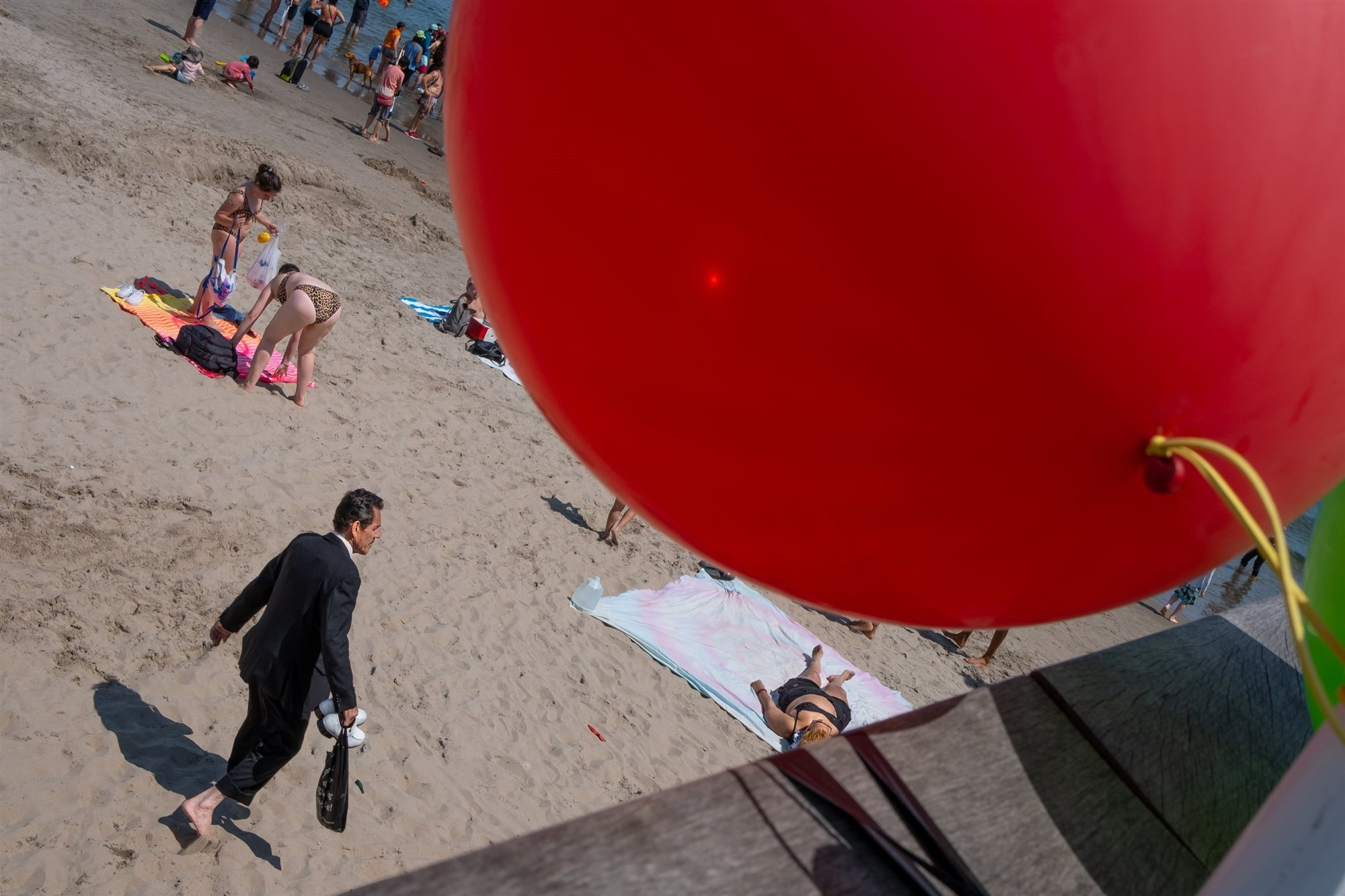 Red Balloon At Coney Island