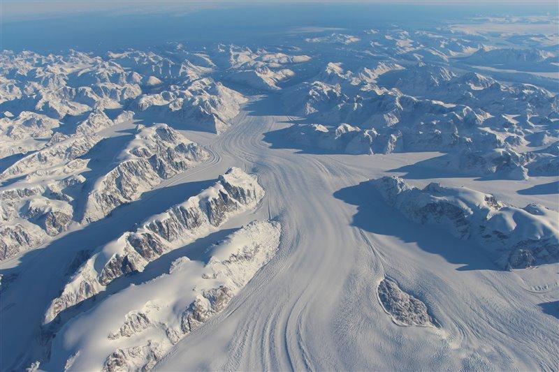 Glaciar Heimdal. Groenlandia
