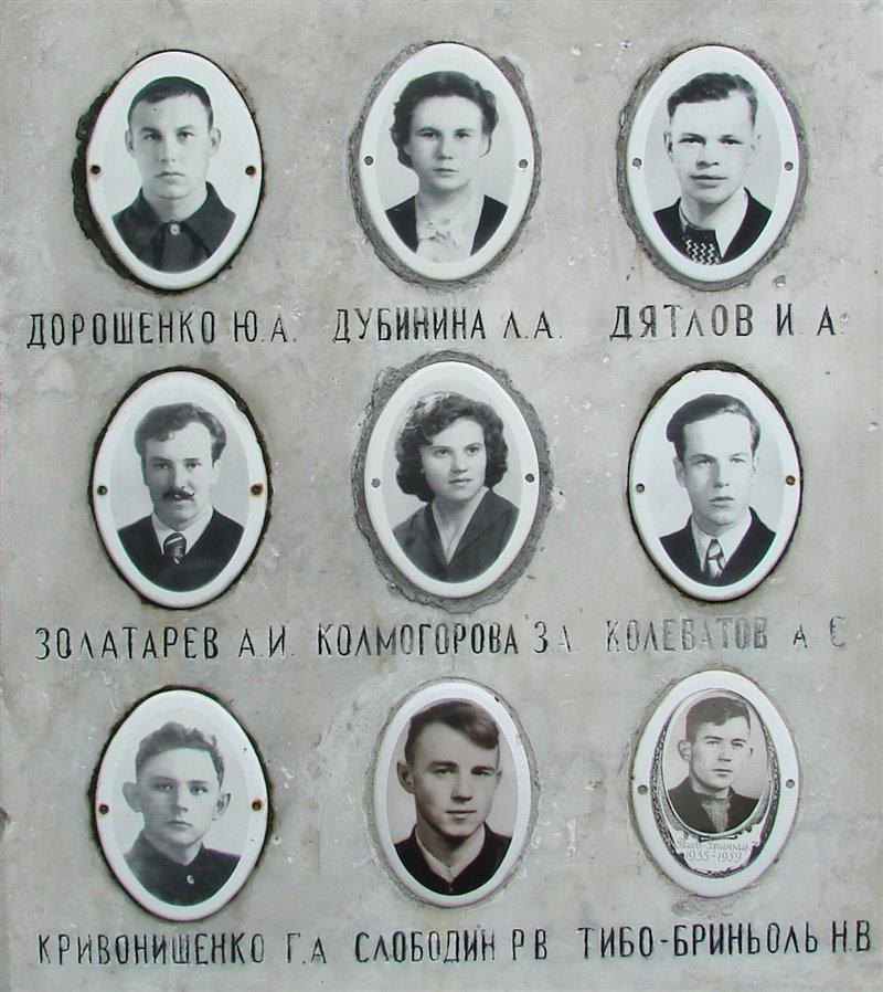 Miembros fallecidos de la expedición del Incidente del Paso Diatlov