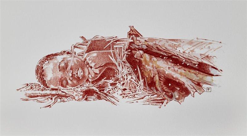 Interpretación artística del enterramiento de Mtoto.