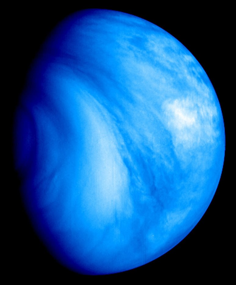 Imagen de Venus obtenida por la sonda de la ESA Venus Espress