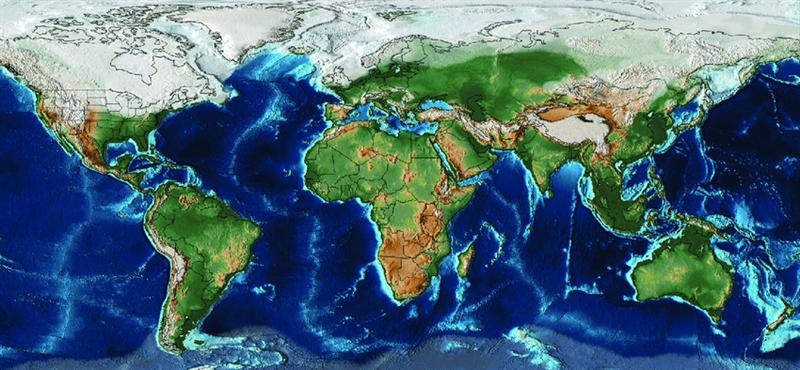 Extensión global del hielo durante el Último Máximo Glacial